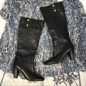 Kate Spade Belinda Black Leather Boot